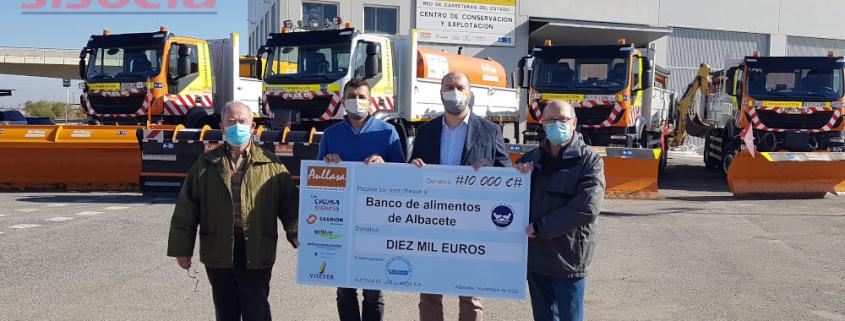 Cyopsa colabora con el Banco de Alimentos de Albacete junto a sus socios en Aullasa